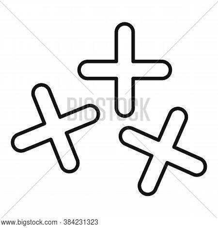 Tiler Cross Tool Icon. Outline Tiler Cross Tool Vector Icon For Web Design Isolated On White Backgro