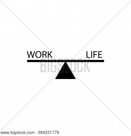 On Seesaw Work Sign Icon. Vector Illustration Eps 10