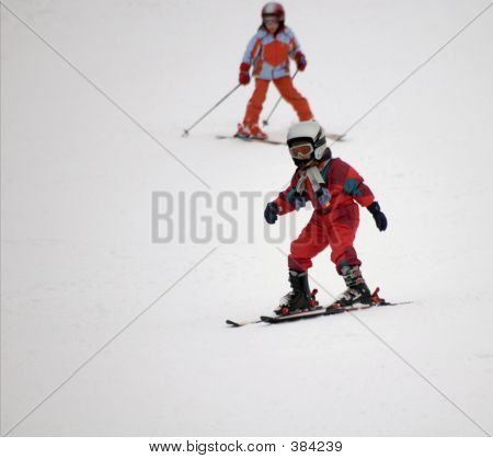 Tots On Skis