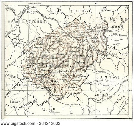 Department of correze, From the Dictionary of Word and Things, 1888.