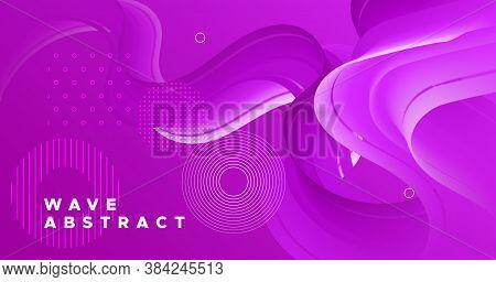 3d Movement. Flow Cover. Pink Gradient Template. Color Geometric Banner. Vibrant Motion. 3d Movement