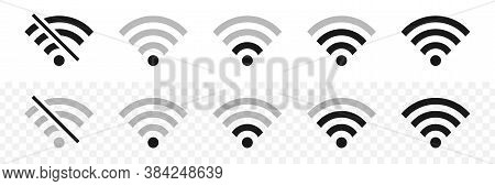 Wi-fi Wireless Icons. Visualization Of Wi-fi Connection Signal Quality. Internet Connection. Vector