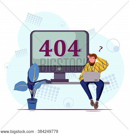 Concept Operating System Error Warning For Web Page, Laptop Screen With Error.disconnection From The