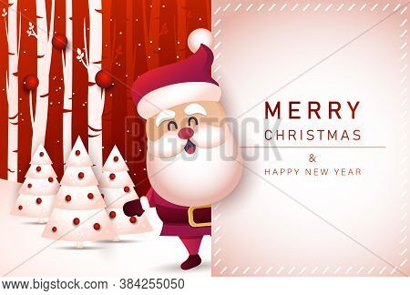 Merry christmas and happy new year 2021 greeting card with santa claus. Christmas background. Merry Christmas card vector Illustration.Christmas. Christmas Vector. Christmas Background. Merry Christmas Vector. Merry Christmas banner. Christmas illustratio