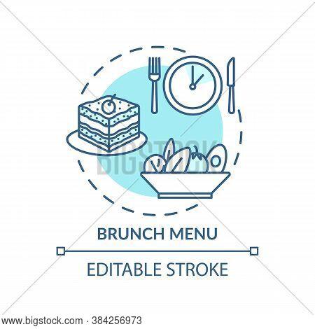 Brunch Menu Concept Icon. After Morning Snacks. Middle Day Food Restaurant Offers. Lite Appetizer Me