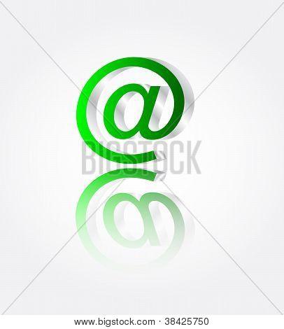 Metall-e-Mail mit Reflektionsvektor