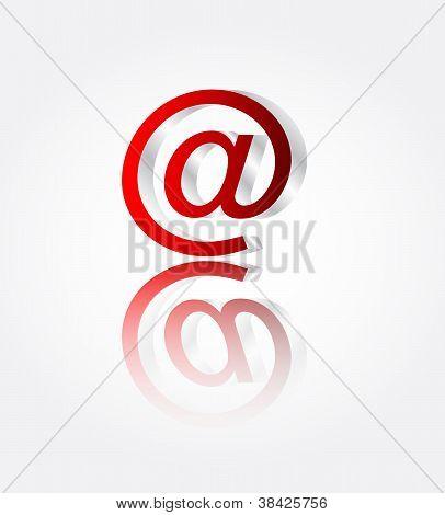 Metall E-mail mit Reflektion Vektor