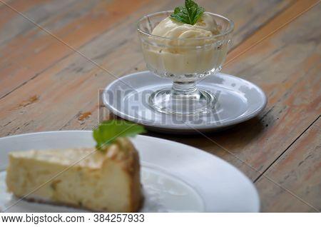 Ice Cream Or Vanilla Ice Cream, Cup Of Ice Cream
