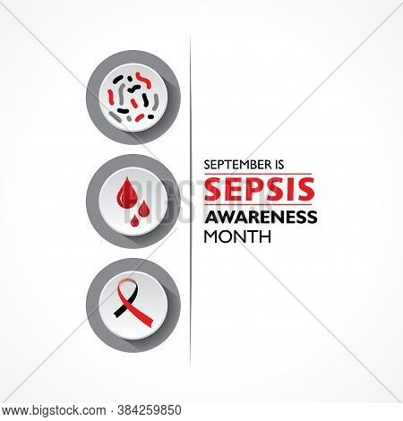 Vector Illustration Of Sepsis Awareness Month Observed In September 13th