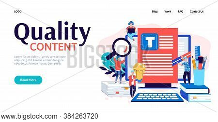 Concept Copywriter Business. Creating Quality Content Writing Texts Searching For Ideas And Promotio