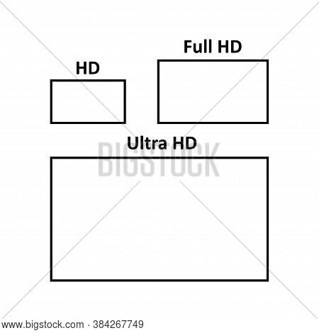 Flat Web Template Hd, Full Hd, Ultra Hd For Your Design. Television Ratio.
