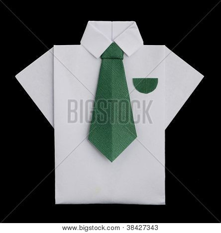 Isolated Paper Made White Shirt.