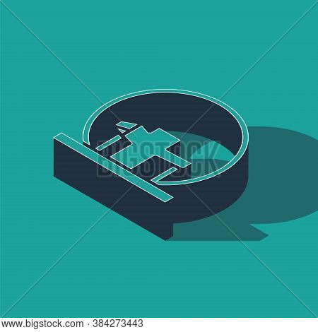 Isometric Montreal Biosphere Icon Isolated On Green Background. Vector