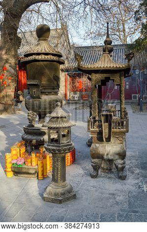 Fayuan Temple, Oldest Buddhist Temple In Beijing, China