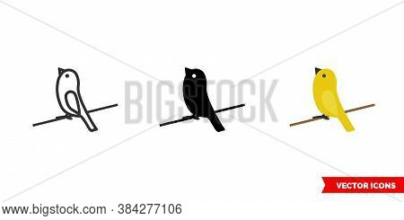 Canary Icon Of 3 Types Color, Black And White, Outline. Isolated Vector Sign Symbol.