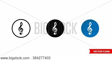 Classical Music Genre Icon Of 3 Types Color, Black And White, Outline. Isolated Vector Sign Symbol.