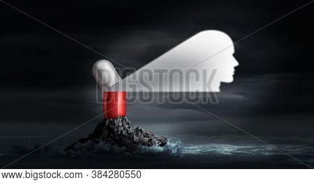 Psychiatric Drug As A Psychiatry Or Psychiatrist Symbol For Mental Health Treatment And And Medical