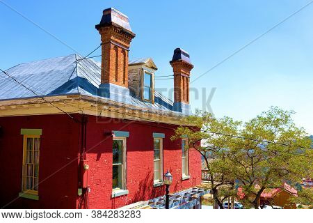 September 5, 2020 In Virginia City, Nv:  Historical Brick Home With Many Fireplaces For Heating Duri
