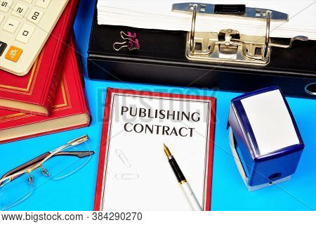 Publishing Contract-text Inscription On The Document Form.