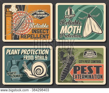 Insects Extermination, Pest Control Service, Repellents And House Disinsection. Vector Centipede, Si