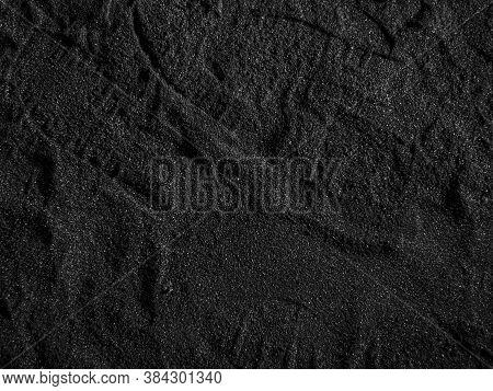 A Close Up Of A Black Coal Texture, Dark Coal Back