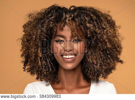 Fashionable African Woman With Afro Hair