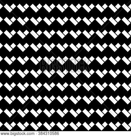 Zigzag Blocks Background. Rhombuses, Rectangles Wallpaper. Seamless Surface Pattern With Repeated Qu
