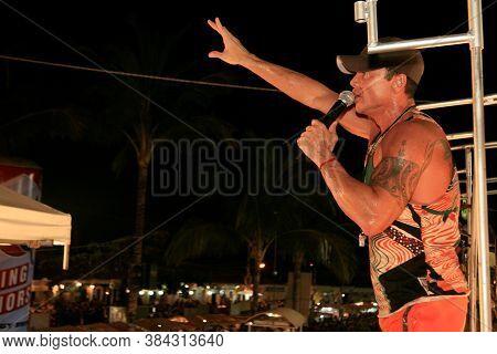 Porto Seguro, Bahia / Brazil - February 24, 2009: The Singer Netinho Is Seen During A Performance At