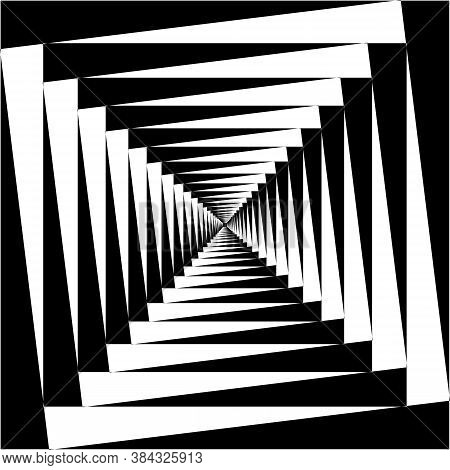 Abstract Frame Stairs Fountain Perspective Stairs To The Light Black On Transparent Background