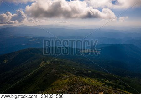 View Of The Montenegrin Ridge From Mount Pip Ivan, Landscapes Of The Carpathian Mountains, Mount Pic