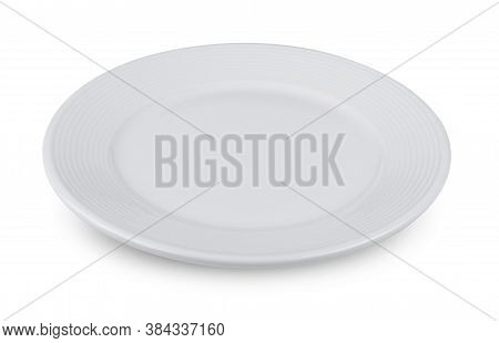 Ceramic Plate, White Plate Isolated On White Background