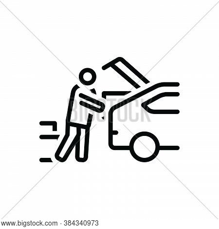 Black Line Icon For Consumers Put-in-car Carry Haul Ote Purchaser Vendee Consumable Shopping Consume