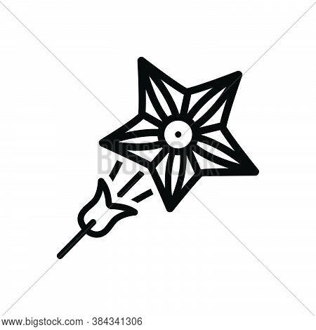 Black Line Icon For Star-glory Star Glory Climb Quamoclit Red Creeper Natural Flower Blossom Botanic