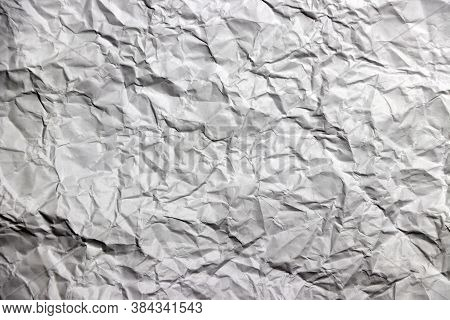 Abstract Background Of Crumpled Paper. Crumpled Style Of Paper Texture Sheet.