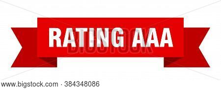 Rating Aaa Ribbon. Rating Aaa Paper Band Banner Sign