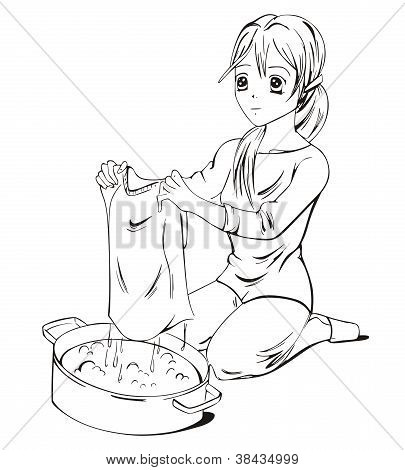Anime Laundress