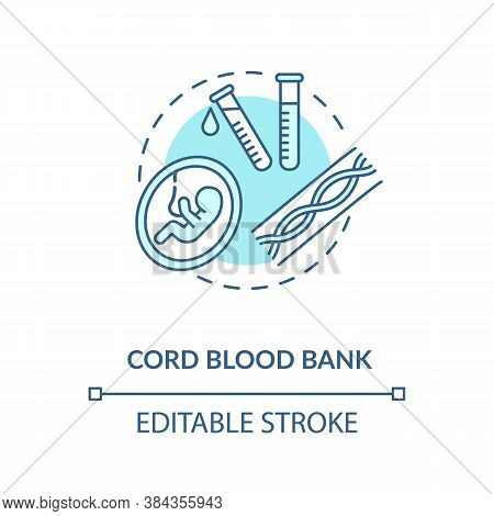 Cord Blood Bank Concept Icon. Medical Donation Idea Thin Line Illustration. Healthcare Industry. Sto