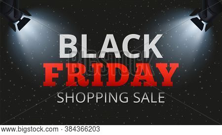 Black Friday Shopping Sale. Special Offers And Discounts Banner, Store Or Web Ads Poster Template. S