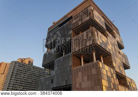 Rio De Janeiro, Rj, Brazil - June 21, 2006: Facade The Building Of The State-owned Petrobras In The