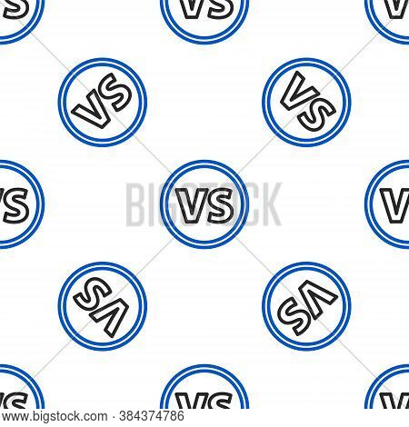 Line Vs Versus Battle Icon Isolated Seamless Pattern On White Background. Competition Vs Match Game,