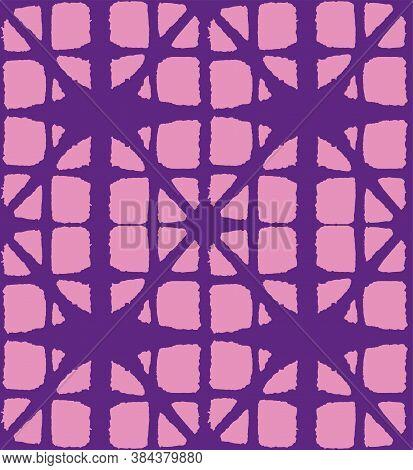 Japanese Tie Dye Seamless Pattern. Glamour Kimono Textile. Geometric Bohemian Asian Tie Dye Print. L