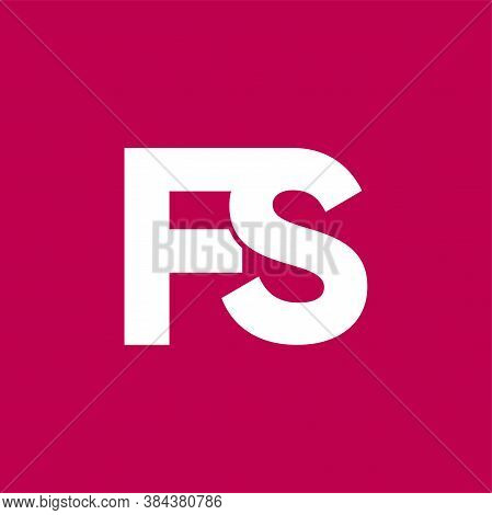 Monogram Initials Ps Logo Letters, Overlapping Conjunction Couple P S Letters, Combination Two Inter
