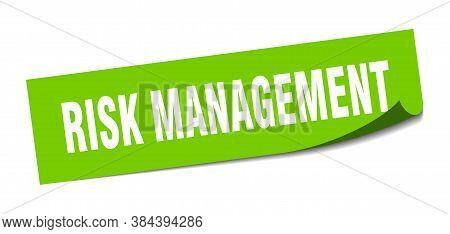 Risk Management Sticker. Risk Management Square Sign. Peeler
