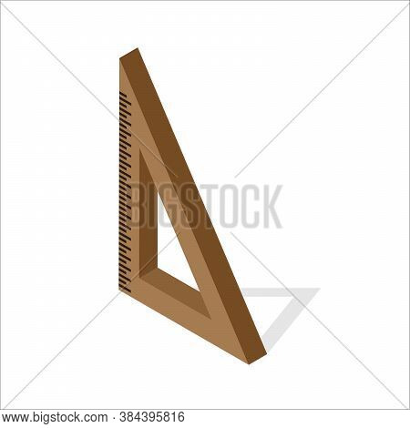 Angle Ruler Icon. Isometric Of Angle Ruler Vector Icon For Web Design Isolated On White Background E