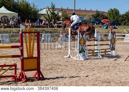 Ukraine, Zaporozhye - On August 08, 2015, Regional Equestrian Competitions Were Held On The Basis Of