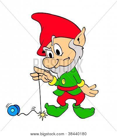 Christmas Elf With Yo-Yo