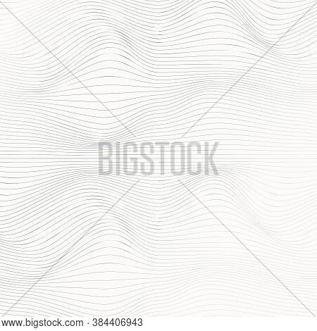 Vector Pattern. Modern Texture. Wave Lines Pattern Abstract Background. Vector Graphic Minimalist Ba