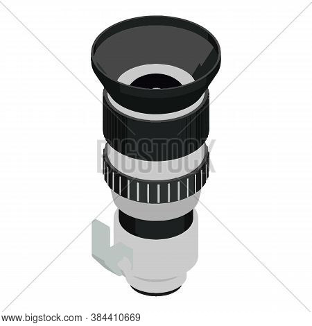 Camera Lens Icon. Isometric Of Camera Lens Vector Icon For Web Design Isolated On White Background