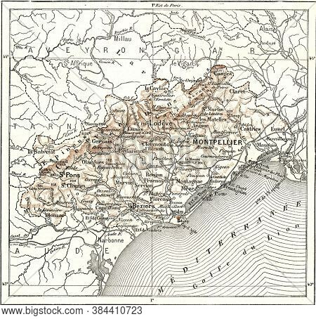 Department of Herault, From the Dictionary of Word and Things, 1888.