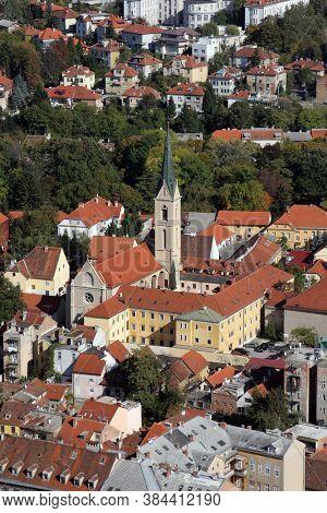 ZAGREB, CROATIA - OCTOBER 29, 2012: Franciscan Church of St. Francis of Assisi on Kaptol in Zagreb, Croatia